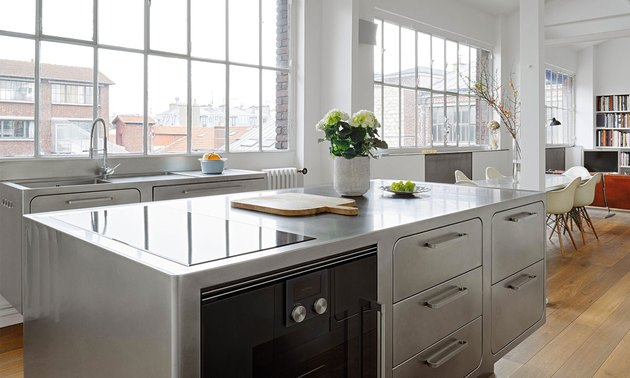 ideas for kitchens industrial metal style