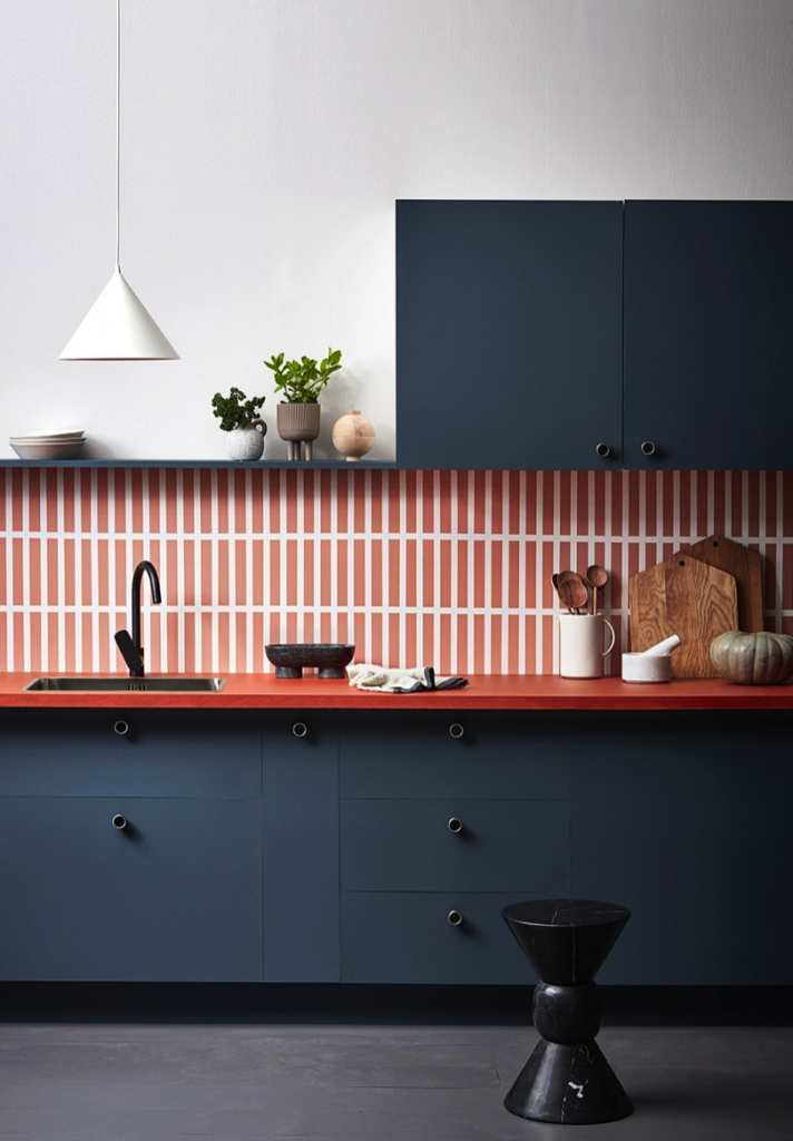 kitchen ideas colourful bold geometric