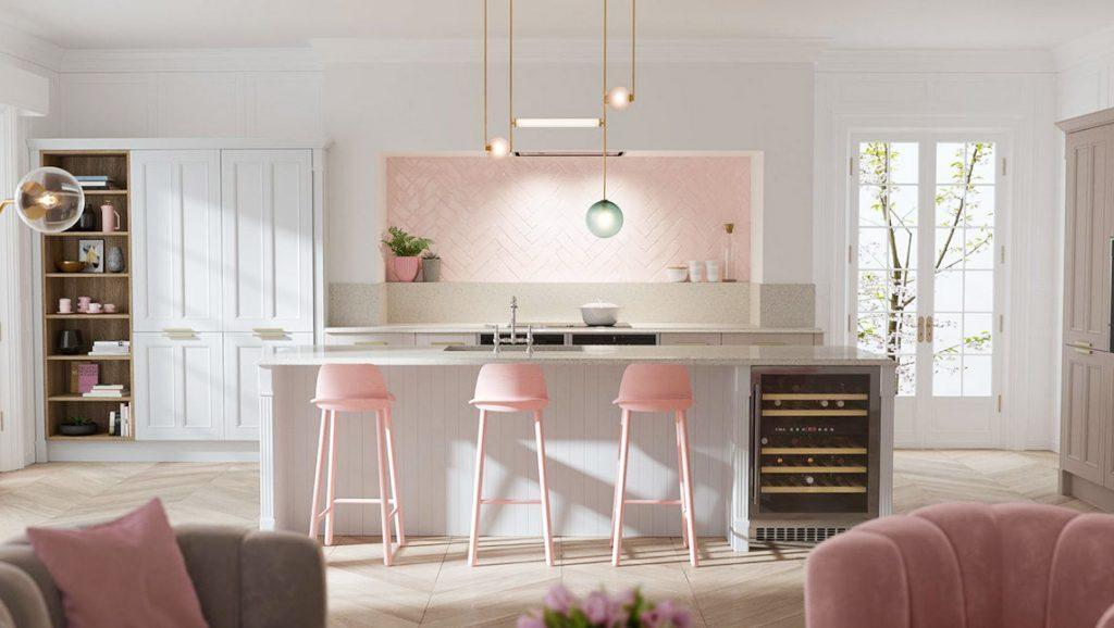 kitchen ideas rink colour delicate