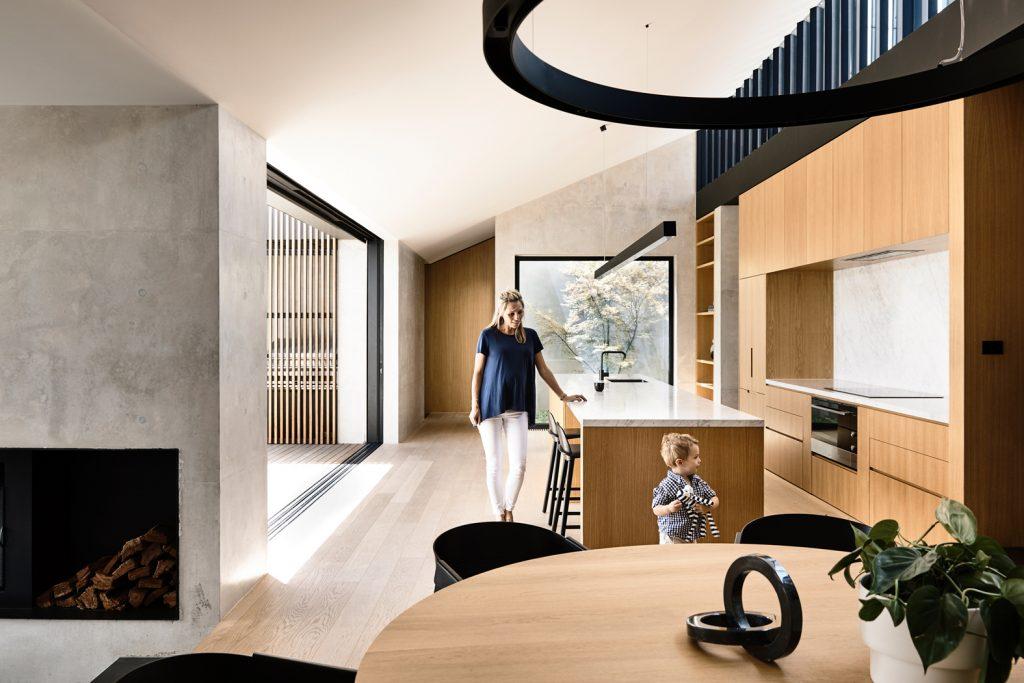 ideas for kitchen modern timber black details