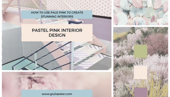 mood board - pastel pink interiors