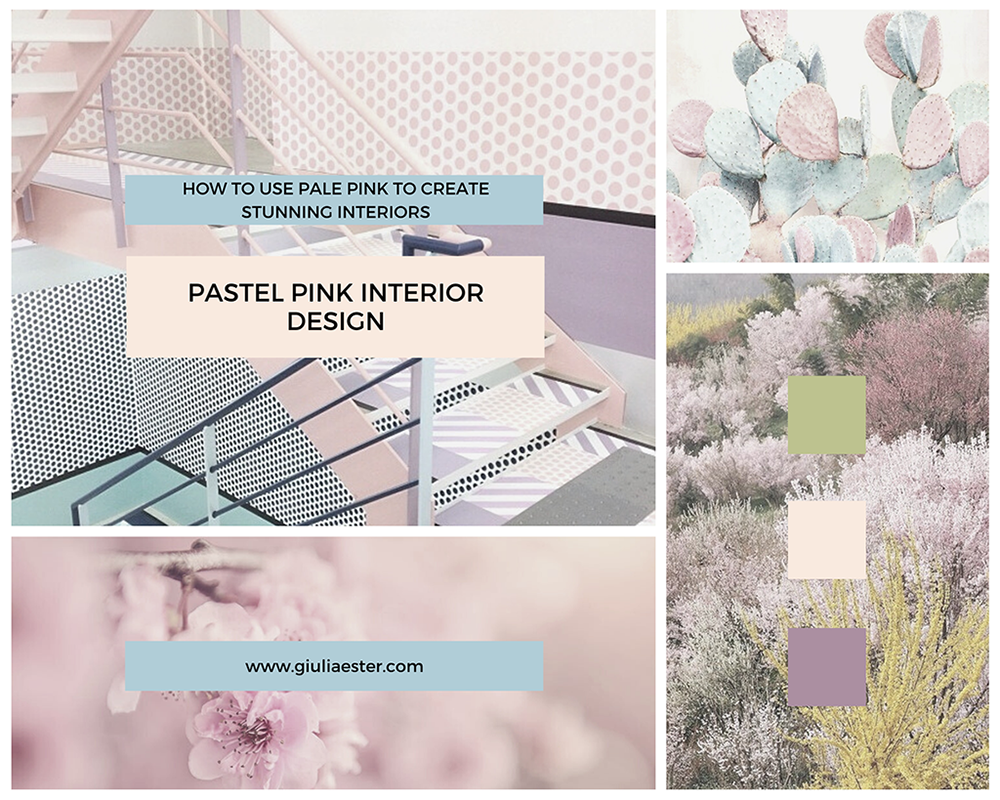 mood board - pastel pink interiors